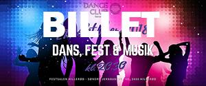 Dance club billetknap til hjemmeside